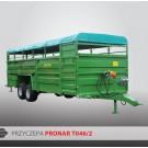 Przyczepa do przewozu zwierząt PRONAR T046/2 - 8500 kg