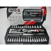 Yato zestaw nasadowy 38 elementów 1/4 YT-1447